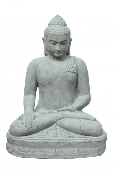 Bouddha assis en pierre de lave