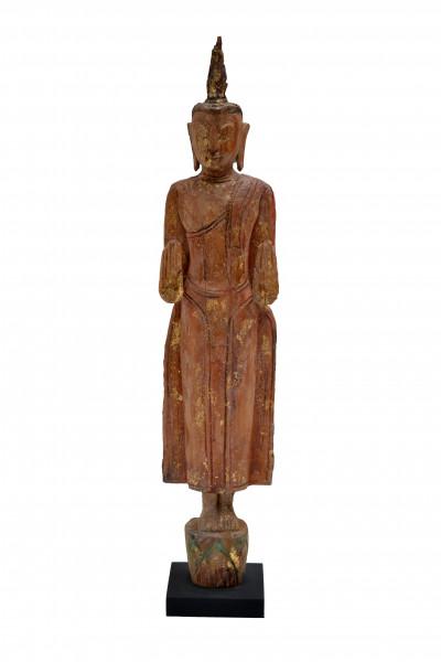 Bouddha souche en teck