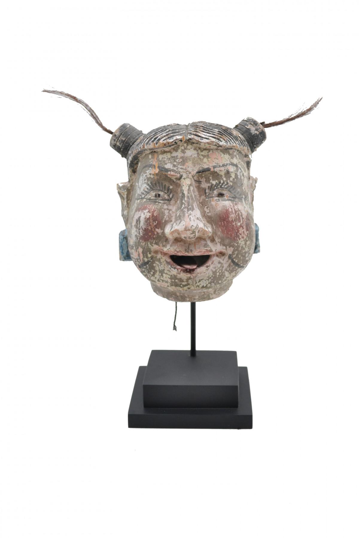 Ancienne tête de marionnette birmane 1