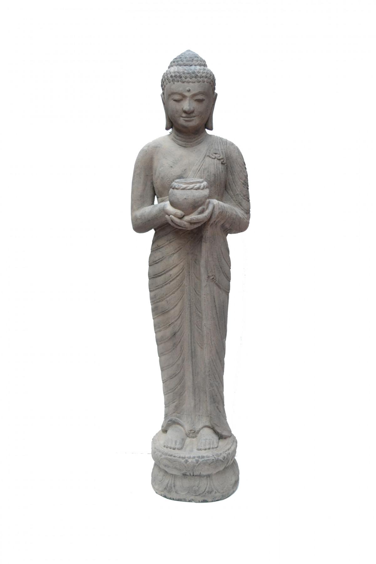 Bouddha bol  en pierre de lave 1