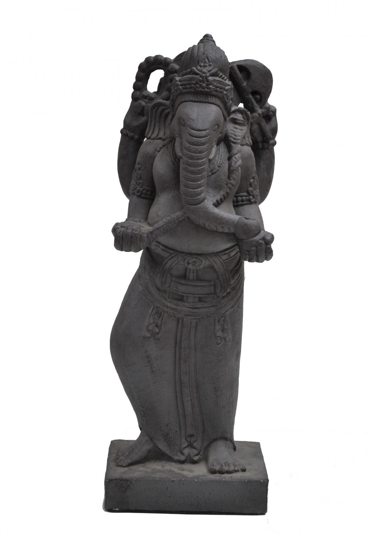 Ganesh debout en pierre de lave 1