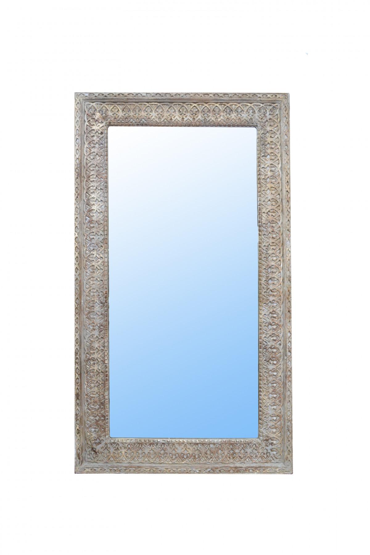 Grand miroir en bois sculpté 1