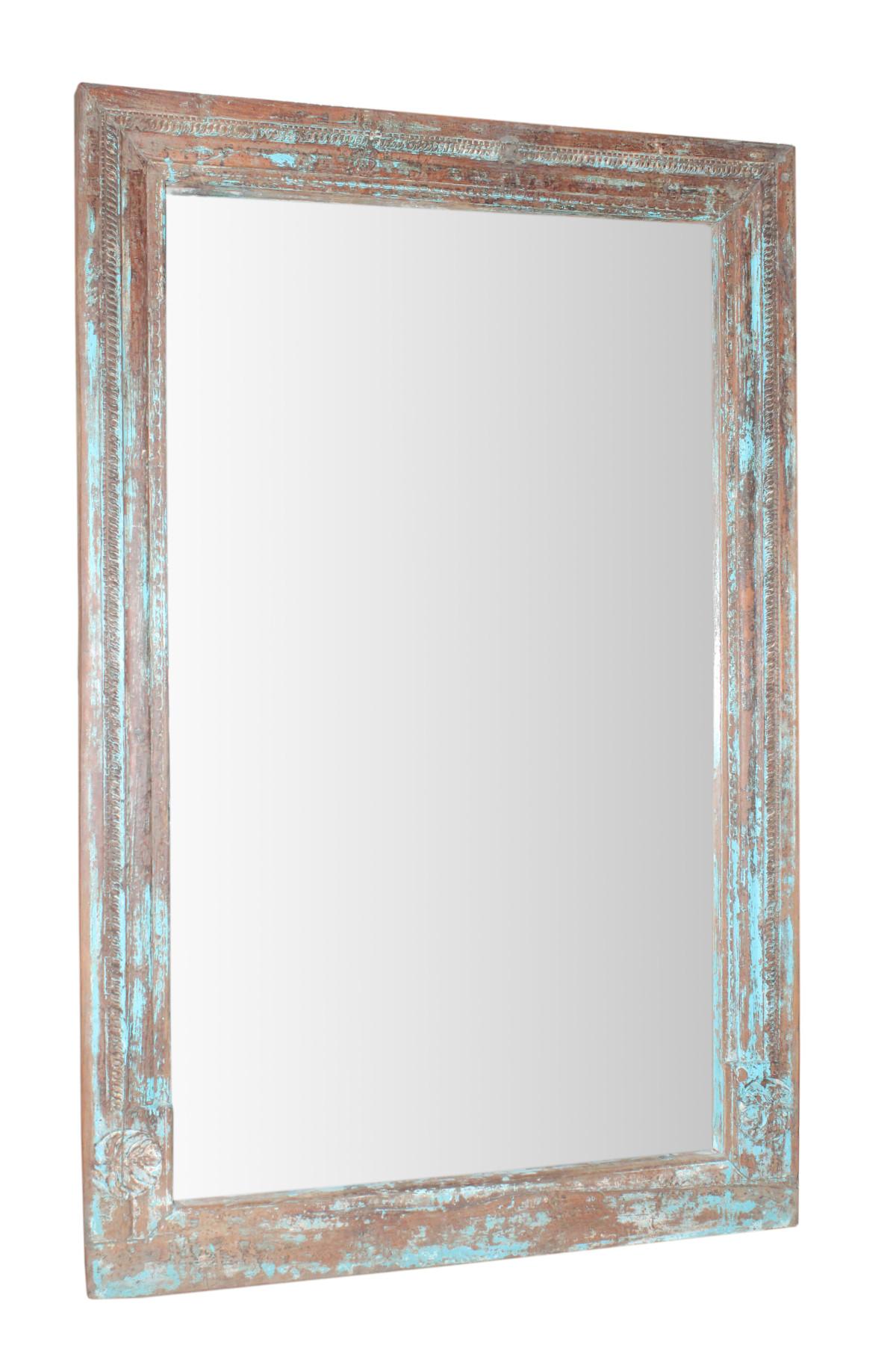 Ancien cadre de devanture - miroir. . Inde 1