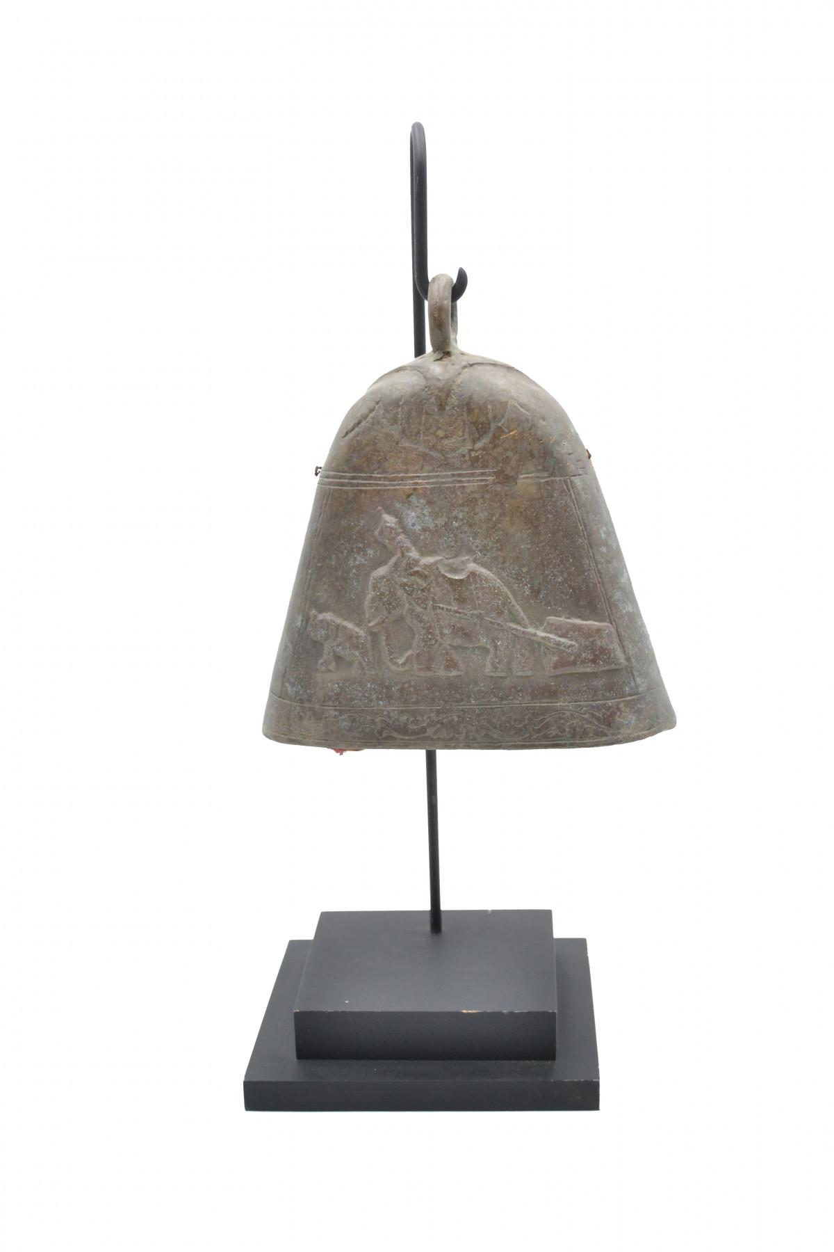 Ancienne cloche de temple en bronze +/-40 ans 1