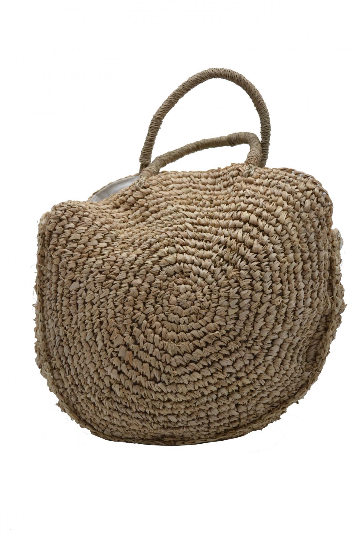 Sac de plage fibre naturel doublé 1