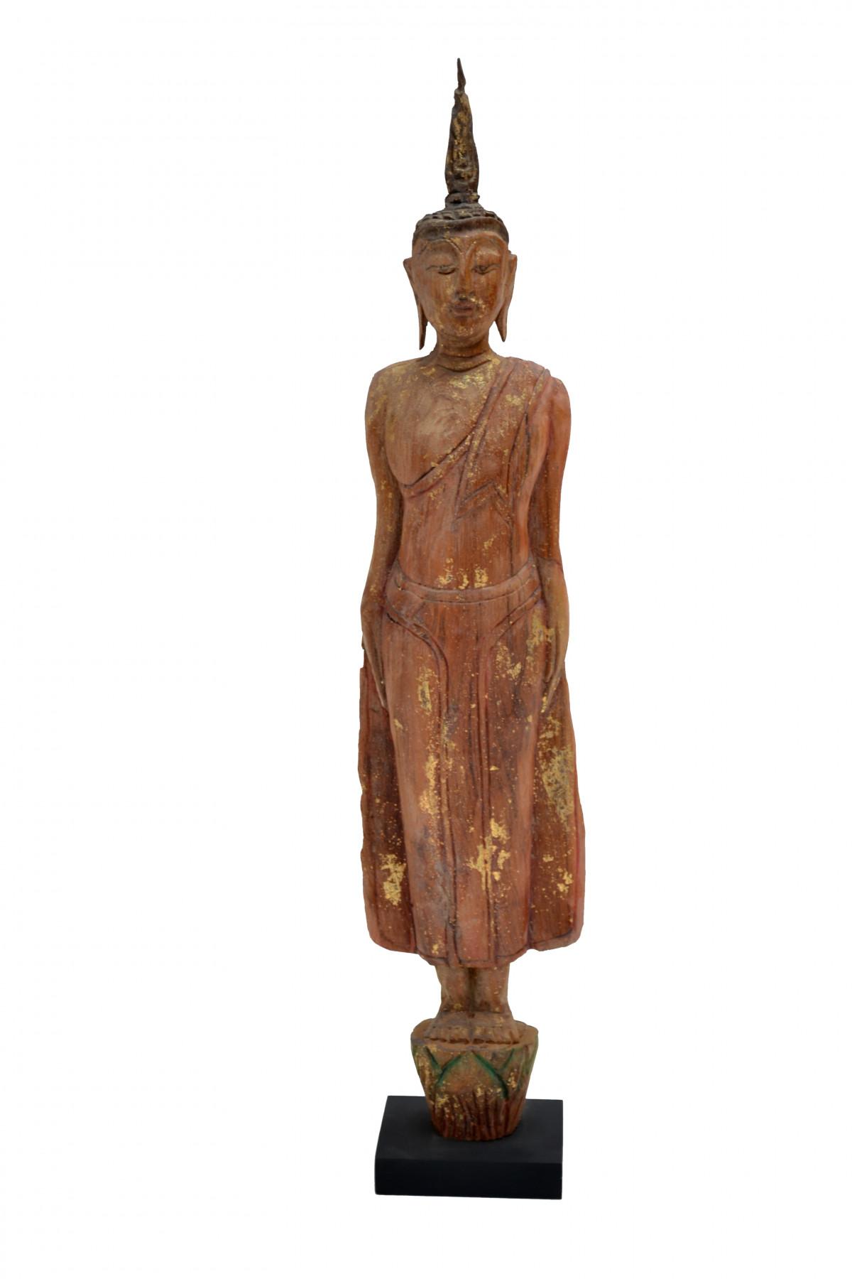 Bouddha souche en teck 1
