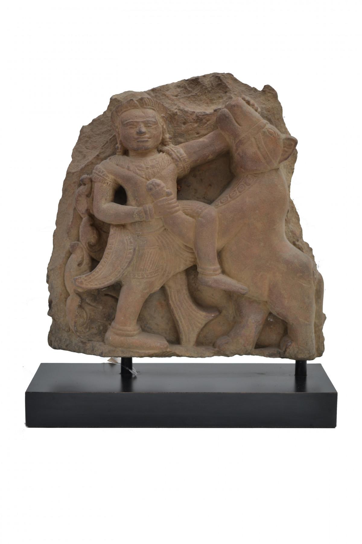 Bas relief pierre de sable Cambodge 1