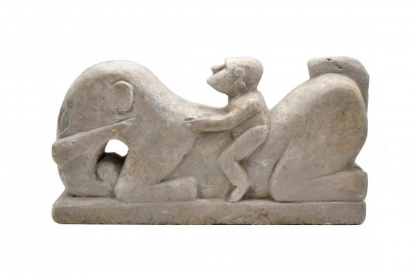 Cavalier en pierre Timor