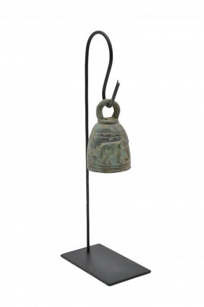 Cloche bronze sur socle