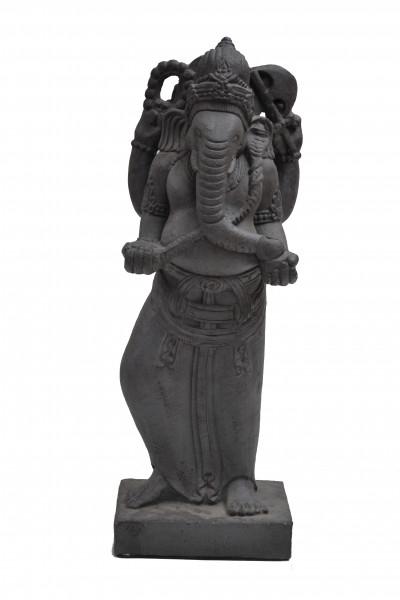 Ganesh debout en pierre de lave