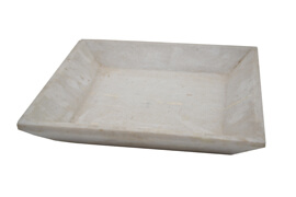 Plats en marbre