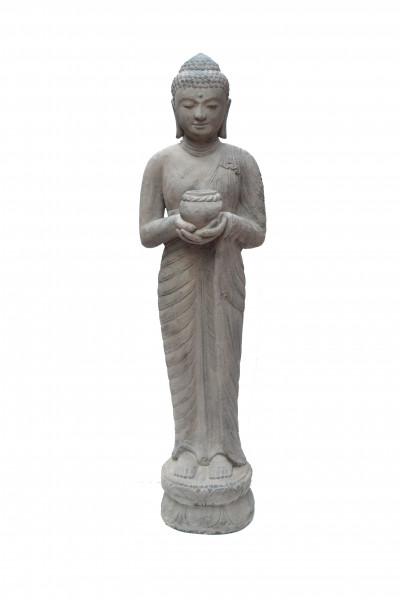 Bouddha bol  en pierre de lave