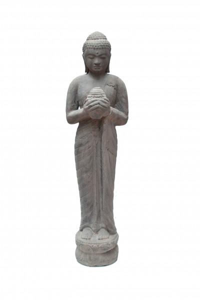 Bouddha coquillage en pierre de lave