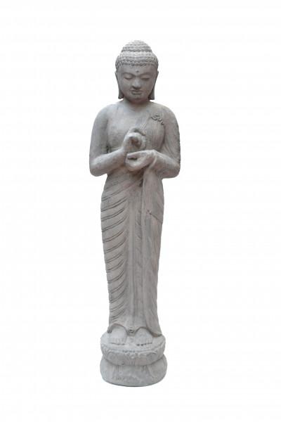 Bouddha signe de  paix en pierre de lave