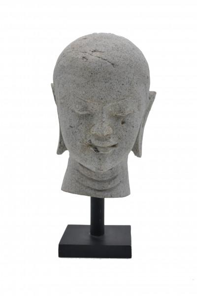 Tête de moine en pierre  sur socle